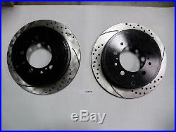 Front & Rear Brake Kit Toyota Tundra Drilled and Slotted Brake Rotors with Pads