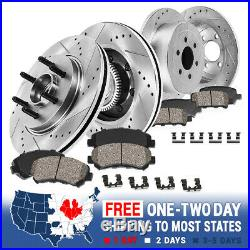 Front+Rear Brake Rotors +Ceramic Pads For 2004 2005 2006 2007 2008 Ford F150