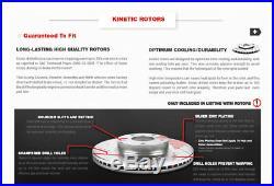 Front+Rear Brake Rotors & Ceramic Pads For 2011 2012 2013 Chevy Impala Ls Lt Ltz