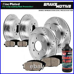 Front+Rear Brake Rotors Ceramic Pads For Cts V 2004 2005 2006 2007 STS 2006 200