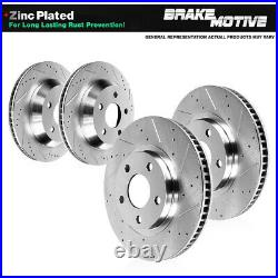 Front & Rear Brake Rotors For 1994 2000 2001 2002 2003 2004 Ford Mustang SN95