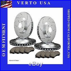Verto USA Set Of 2 Disc Brake Rotors FR Left  /& Right High Performance Drilled