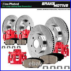 Front+Rear Calipers & Rotors & Pads For 1999 2000 2001 2002 Ford Mustang SN95