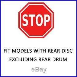 Front Rear DRILLED Disc Brake Rotors Ceramic Pads for 2003-2007 Honda Accord V6