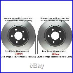 Front Rear DRILL Rotors & Ceramic Pads for 2009 2014 2016 2017 Nissan Maxima