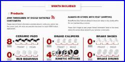 Front+Rear Drill Brake Rotors & Ceramic Pads For Town & Country Grand Caravan