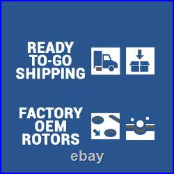 Front & Rear Drill Slot BRAKE ROTORS AND CERAMIC PADS For 08-15 Impreza WRX Sti