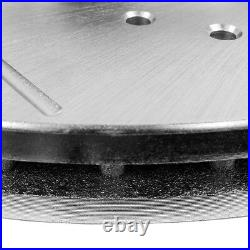 Front & Rear Drill Slot Brake Rotors And 8 Ceramic Pads For Buick Cadillac DTS