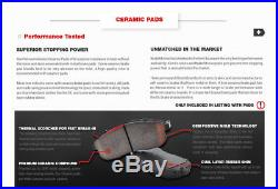 Front + Rear Drill Slot Brake Rotors And Ceramic Pads Dodge Ram 1500 2500 3500