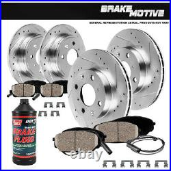 Front & Rear Drill Slot Brake Rotors And Ceramic Pads For 2007 2008 Mini Cooper