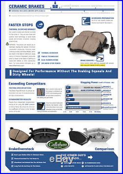 Front + Rear Drill Slot Brake Rotors And Ceramic Pads For BMW 525 528 E39 Sedan