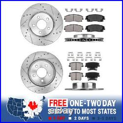 Front & Rear Drill Slot Brake Rotors And Ceramic Pads For Charger Magnum 300