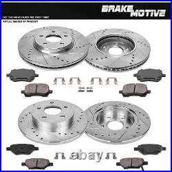Fits: 2005 05 Mazda 3 2.0L Models After Jan 2005 Max Brakes Front /& Rear Performance Brake Kit Premium Slotted Drilled Rotors + Ceramic Pads KT008933