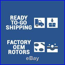 Front+Rear Drill Slot Brake Rotors And Ceramic Pads For Chevy Silverado Escalade