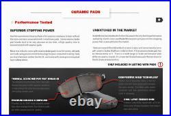 Front & Rear Drill Slot Brake Rotors And Ceramic Pads For Honda Accord TSX