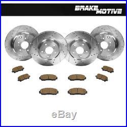 Ford Edge 4WD 07-08 F/&R Brake Rotors Ceramic Pads