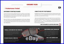 Front+Rear Drill Slot Brake Rotors Ceramic Pad 2011 2012 2013 2014 Honda Odyssey