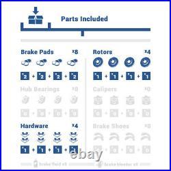 Front+Rear Drill Slot Brake Rotors Ceramic Pad For 2011 -2013 2014 Honda Odyssey