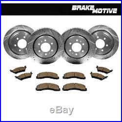 Front+Rear Drill Slot Brake Rotors & Ceramic Pads 2012 2013 2014- 2017 Ford F150