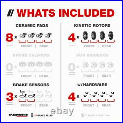 Front+Rear Drill Slot Brake Rotors & Ceramic Pads For 2003 2006 Mercedes E500