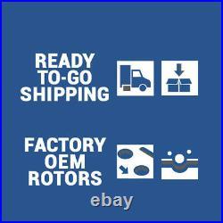Front+Rear Drill Slot Brake Rotors & Ceramic Pads For 2004 2010 A8 VW Phaeton