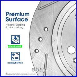 Front+Rear Drill Slot Brake Rotors & Ceramic Pads For 2007 2008 Lexus LS460