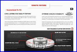 Front + Rear Drill Slot Brake Rotors & Ceramic Pads For 2008 2017 Nissan Rogue