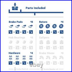 Front+Rear Drill Slot Brake Rotors +Ceramic Pads For 2011 2017 Hyundai Elantra