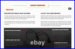 Front & Rear Drill Slot Brake Rotors & Ceramic Pads For Audi A5 A4 Quattro Q5