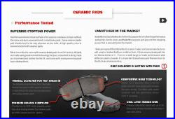Front & Rear Drill Slot Brake Rotors & Ceramic Pads For Crown Vic Grand Marquis