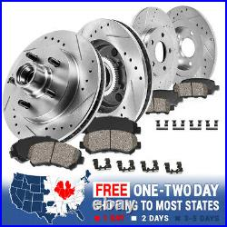 Front & Rear Drill Slot Brake Rotors & Ceramic Pads For Expedition F150 2WD