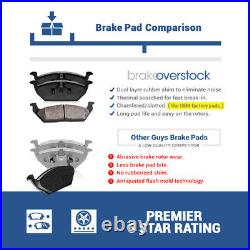 Front+ Rear Drill Slot Brake Rotors & Ceramic Pads For Grand Cherokee Commander