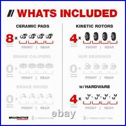 Front+Rear Drill Slot Brake Rotors + Ceramic Pads For Lexus GX460 Toyota 4Runner