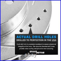 Front+Rear Drill Slot Brake Rotors & Ceramic Pads For Regal Chevy Malibu 9-5