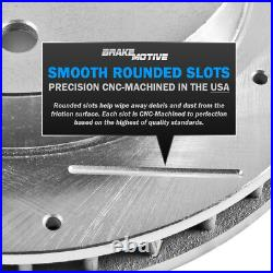 Front+Rear Drill Slot Brake Rotors & Ceramic Pads For VW Volkswagen CC