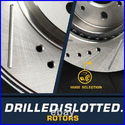 Front+Rear Drill Slot Brake Rotors For 2010 2011 2012 2013 2014 2015 Camaro SS