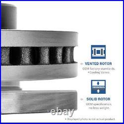Front & Rear Drill Slot Brake Rotors For Chrysler 300 Charger Challenger SRT8