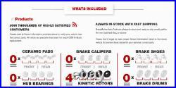 Front & Rear Drill & Slot Brake Rotors For Honda Civic Del Sol Hatchback Si
