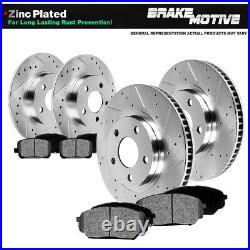 Front & Rear Drill Slot Brake Rotors + Pads For 1999 2004 Ford Mustang SN95