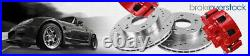 Front+Rear Drill Slot Brake Rotors and Ceramic Pads For Infiniti Q50 Q60