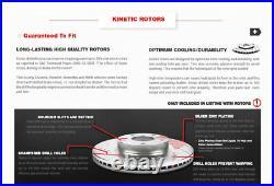Front+Rear Drill Slot Rotors + Ceramic Brake Pads For Toyota Corolla Matrix Vibe