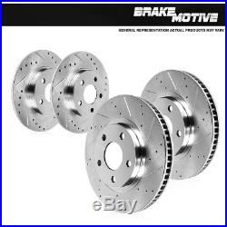 Front & Rear Drilled And Slotted Brake Rotors 2004 2005 2006 2007 2008 Acura TL