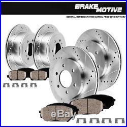 Front Rear Brake Rotors And Ceramic Pads Kit Fits 02 03 04 05 Trailblazer Envoy