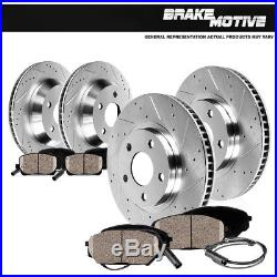 Front+Rear Drilled Slotted Brake Rotors And Ceramic Pads 1963 1982 Corvette C3