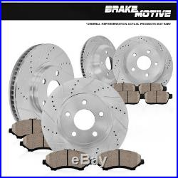 Front and Rear Ceramic Brake Pads For  DODGE DURANGO RAM 1500 2WD 4WD