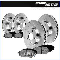 Front & Rear Drilled Slotted Brake Rotors And Metallic Pads 63 82 Vette C2 C3