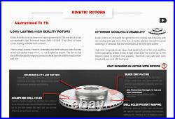 Front+Rear Drilled Slotted Brake Rotors & Ceramic Pads For Mercedes-Benz E350