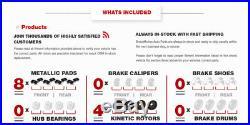 Front + Rear Drilled Slotted Brake Rotors & Semi-Met Pads Aspen Durango Ram 1500