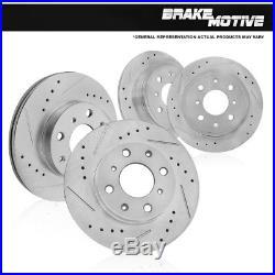 Ceramic Brake Pads Fit 1997-2001 Acura Integra Rear Drill Slot Brake Rotors