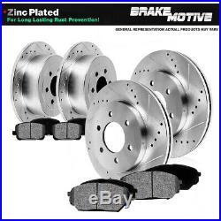 Front+Rear Rotors Metallic Pads For Chevy Silverado Suburban Tahoe Sierra Yukon